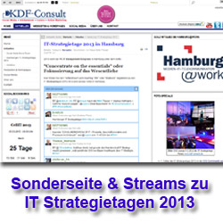 Screenshot Sonderseite ITHH IT Strategietage 2013 in Hamburg